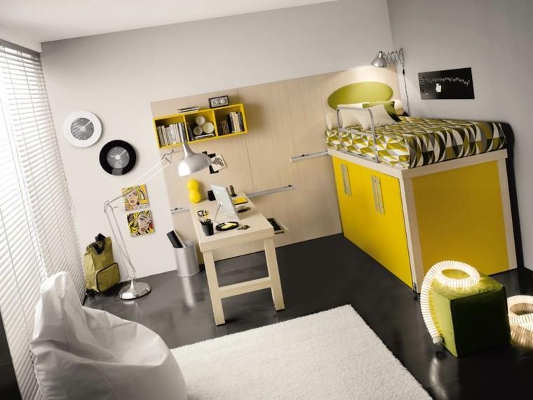 dormitorios juveniles chico original mobiliario practico ideas