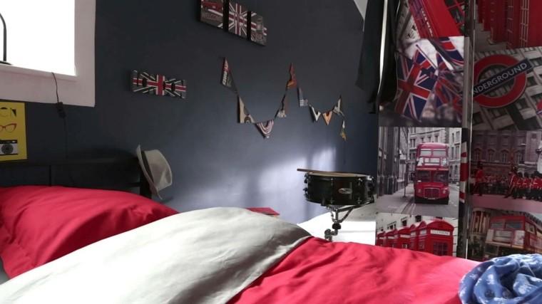 Dormitorio juvenil ideas originales para tu chico - Decoration chambre angleterre ...