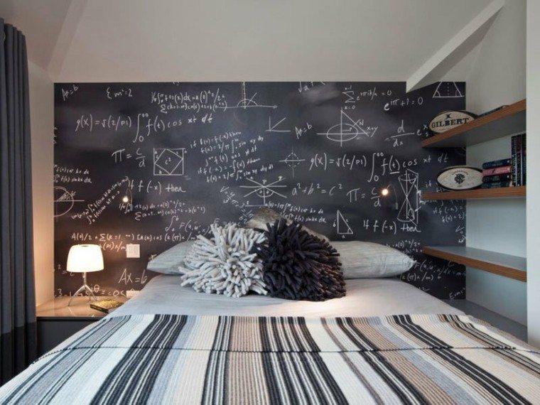 dormitorios juveniles chico original pared pizarra preciosa ideas