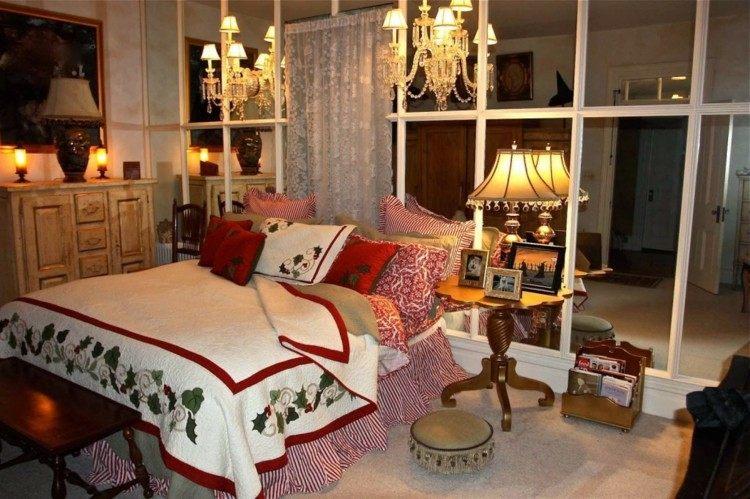 dormitorios navidad encanto coronas clasico claros