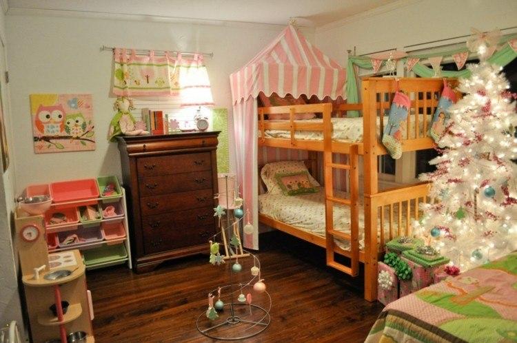 dormitorios navidad encanto coronas infantiles acogedor