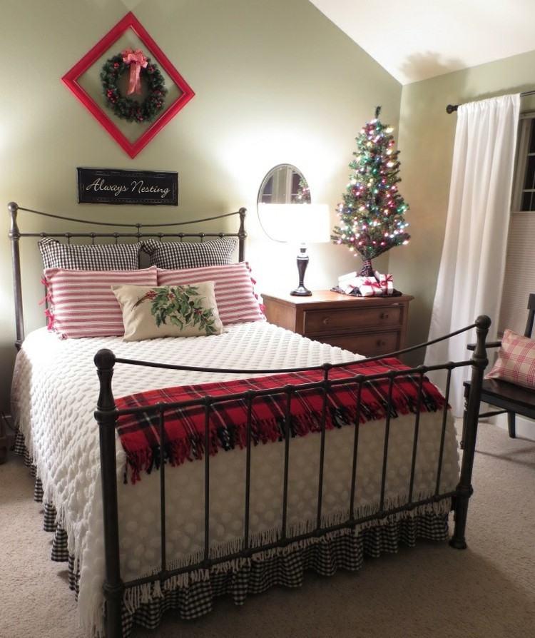 dormitorios navidad encanto coronas paredes arbol