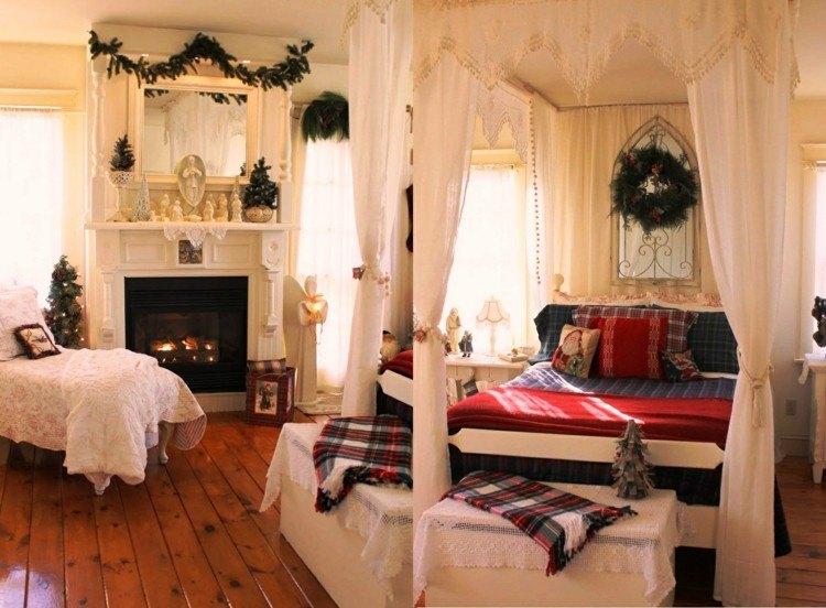 dormitorios navidad encanto coronas plantas guirnaldas