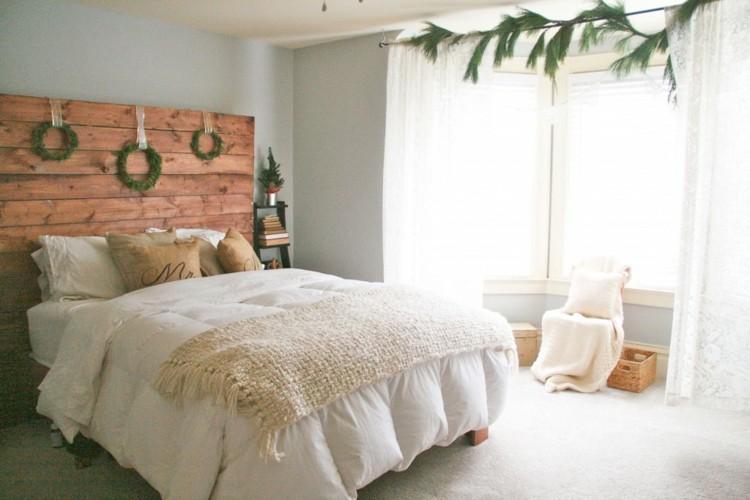dormitorios navidad encanto coronas rustico diy