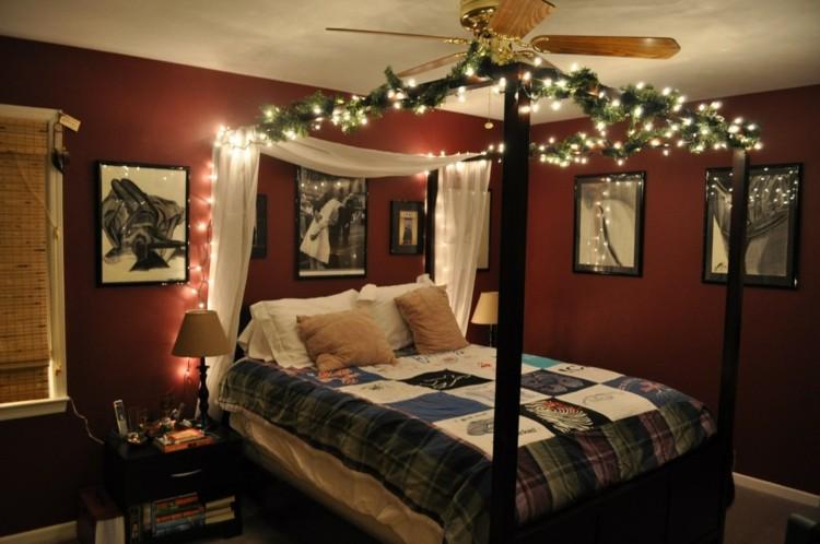 dormitorios navidad encanto coronas ventilador columnas