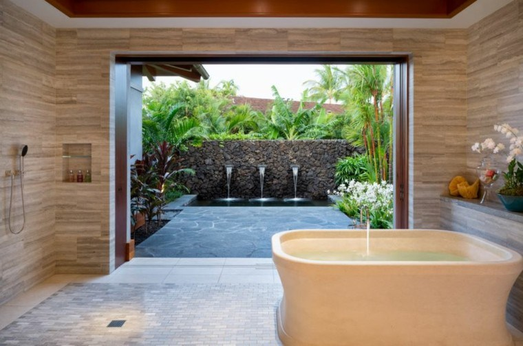 duchas relajacion bañera estilo cascada
