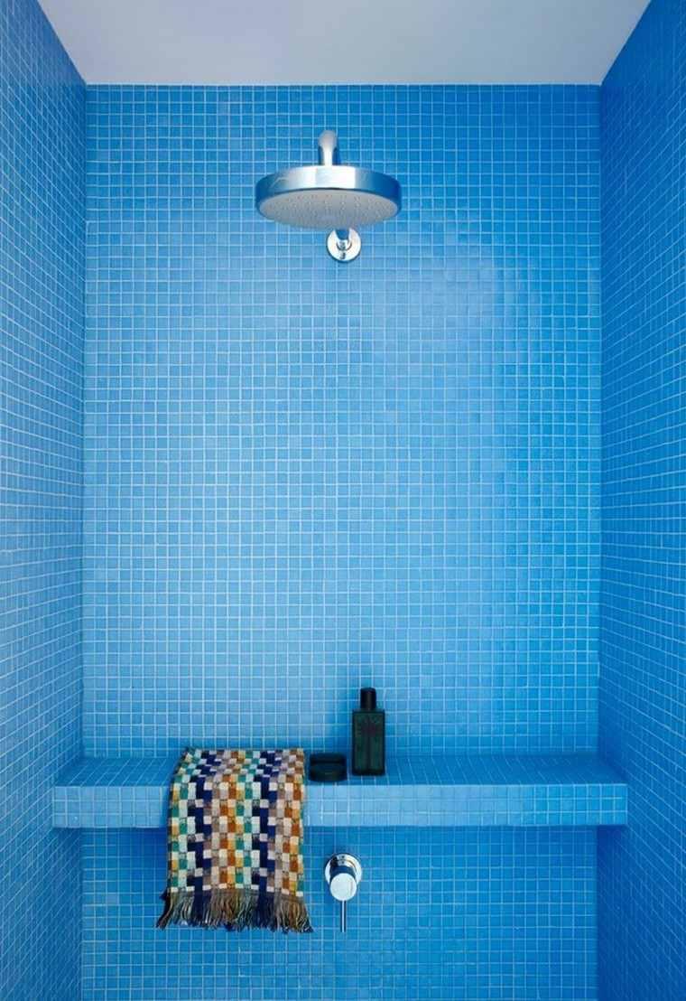 duchas relajacion diseño variado azul