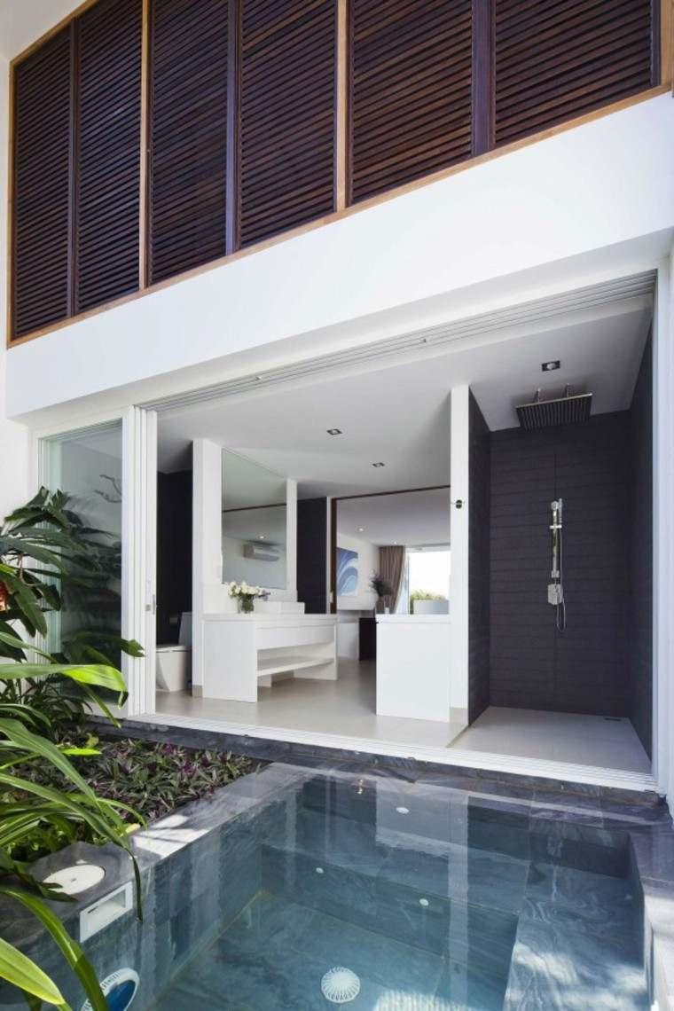 duchas relajacion moderna lujo piscina