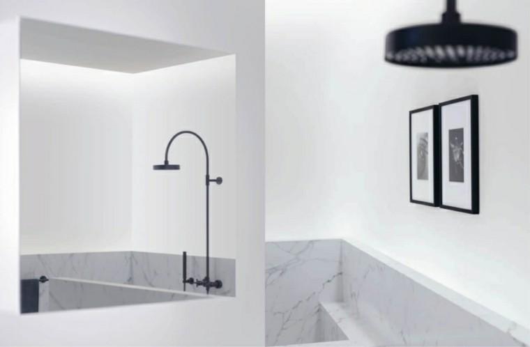 duchas modernas alcachofas color negro