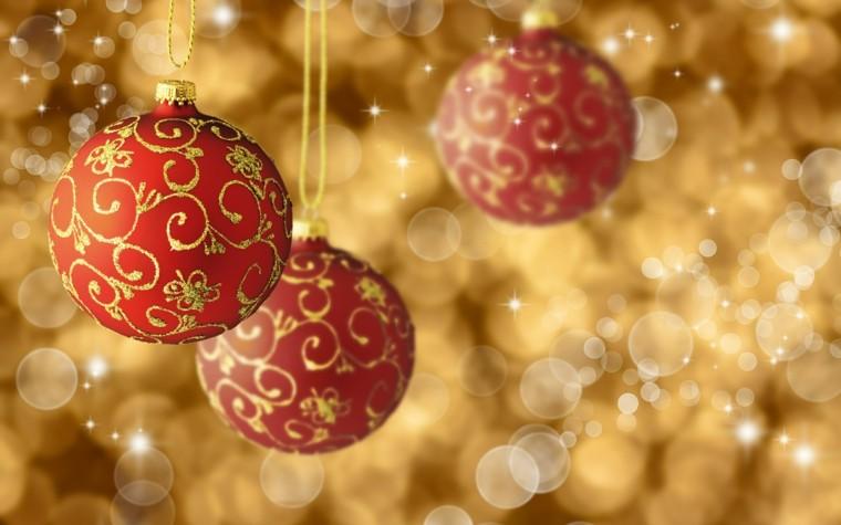 el dorado decoracion esferas colores rojo