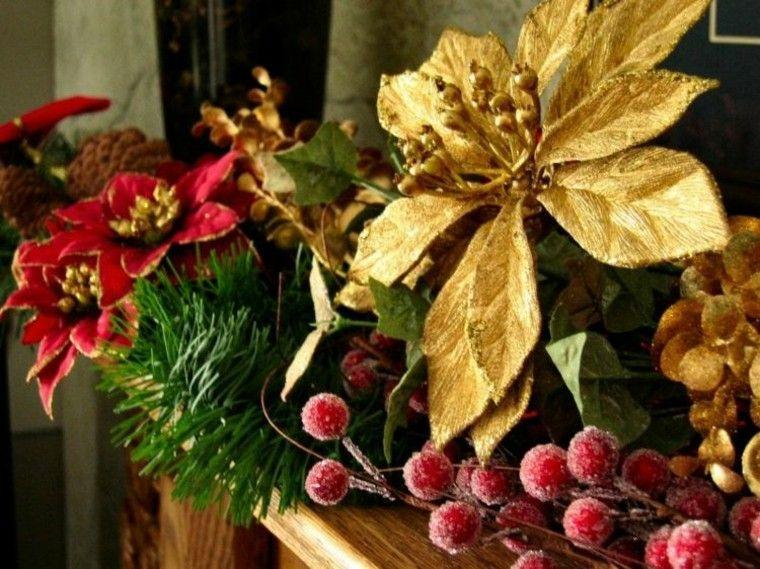 el dorado decoracion flores estrellas conos