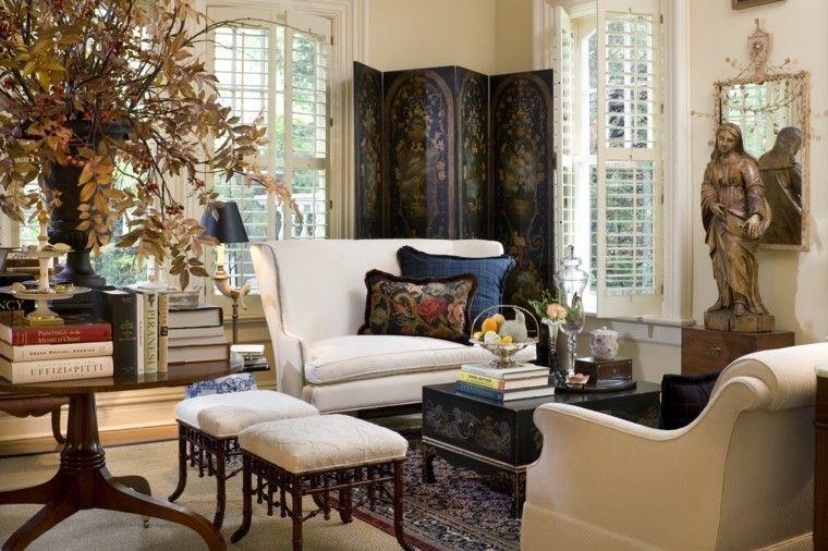 otoño decoracion de salones elegante casa diseño creativo mesa