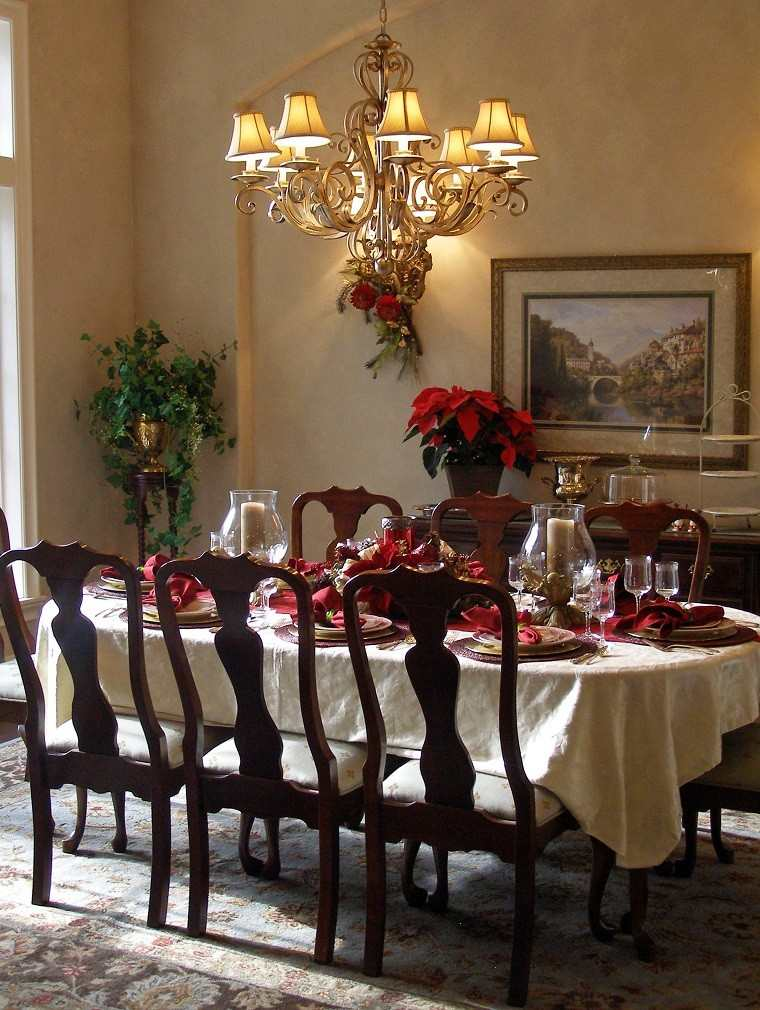 Comedores Decorados De Navidad Comedor Ropa De Cama Decoracin - Comedores-decorados