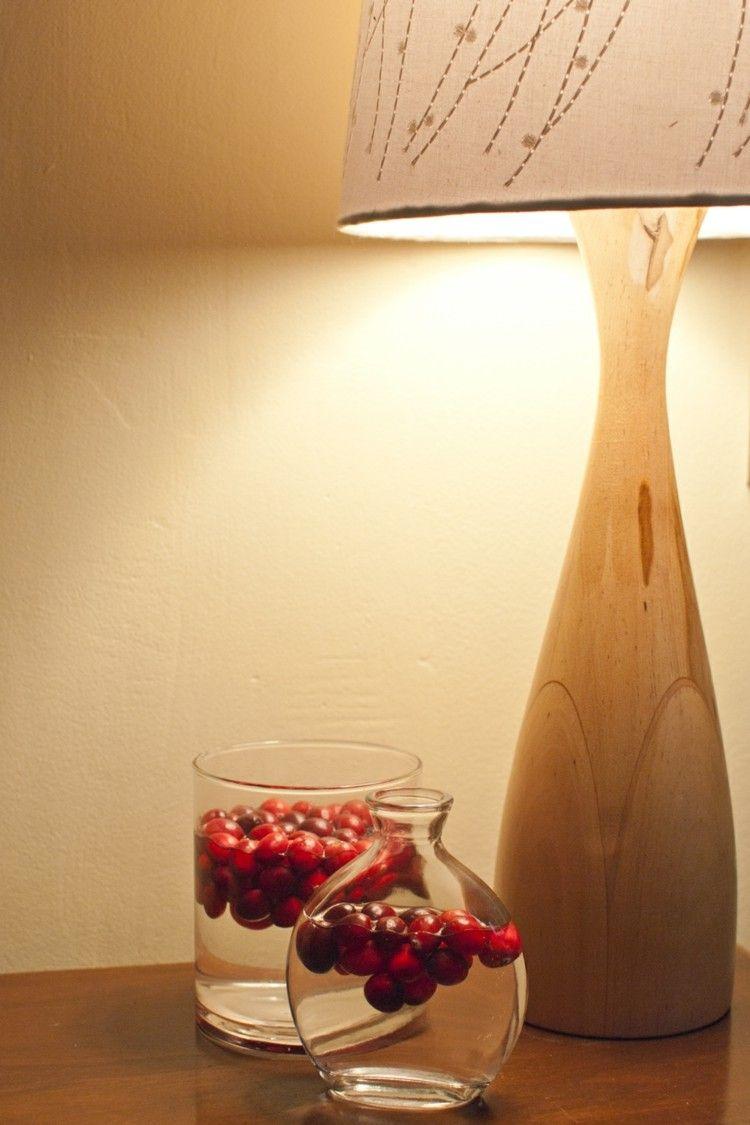 elegante vidrio diseño lampara madera