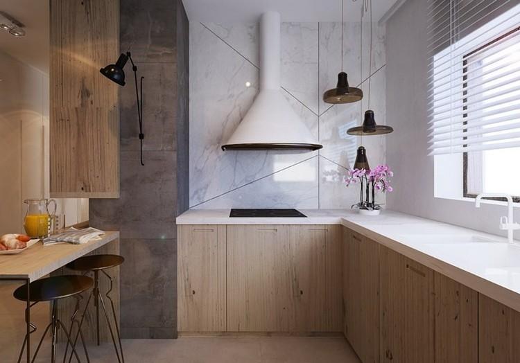 encimeras de cocina ideas plantas madera moderno campana