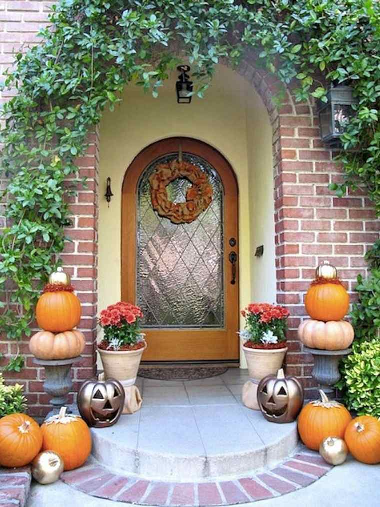 entrada casa calabazas decora casa otono ideas