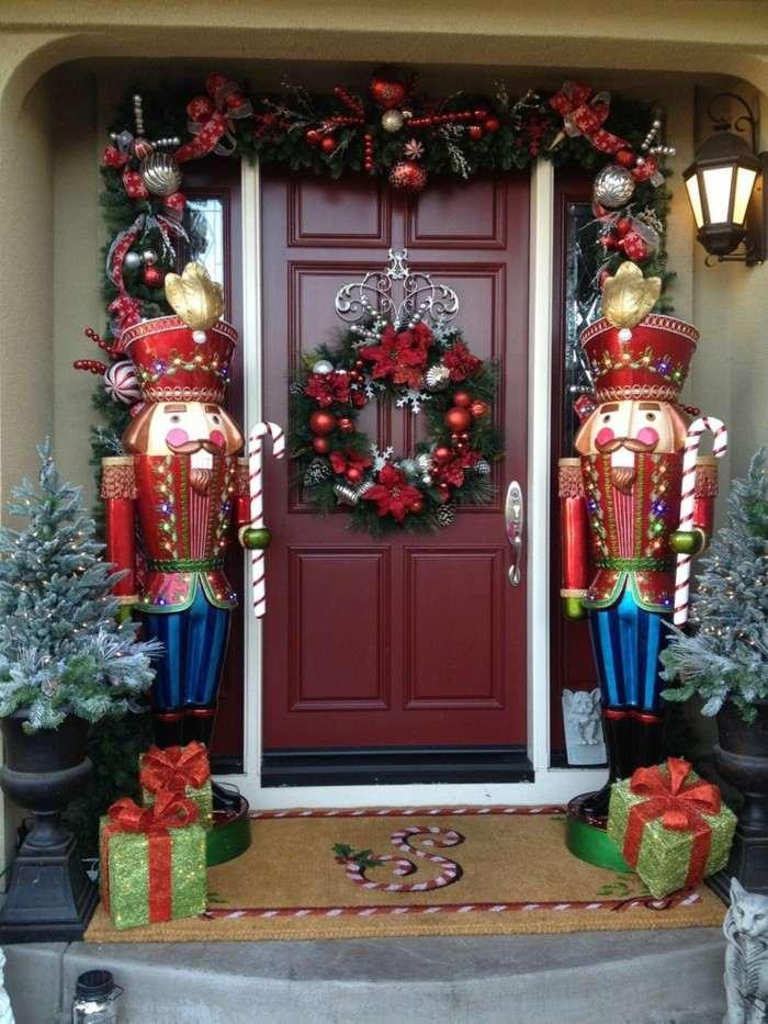 entrada casa decorada navidad