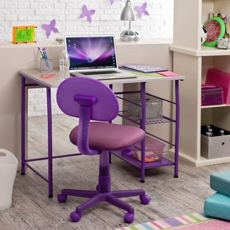escritorio juvenil color púrpura
