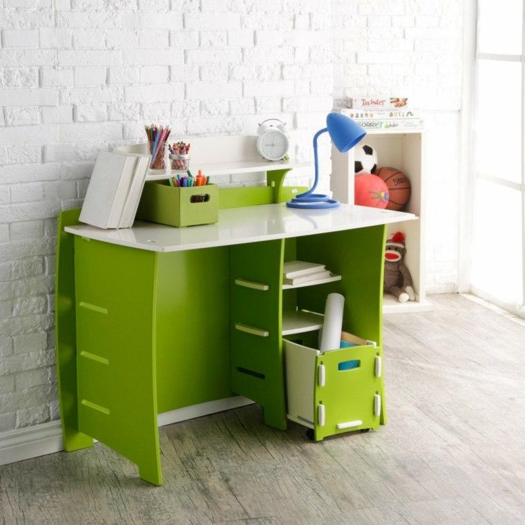 escritorio verde