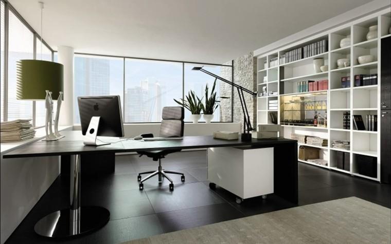 escritorio puerta alejada verde oficina