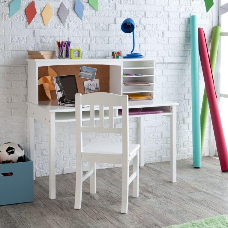 escritorios juveniles retro color blanco
