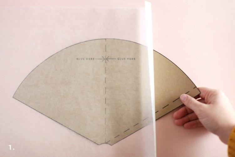 esfera carton cono recortado freagmento