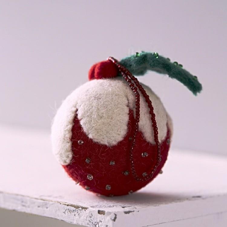 esfera decorada colorida perlas mesa