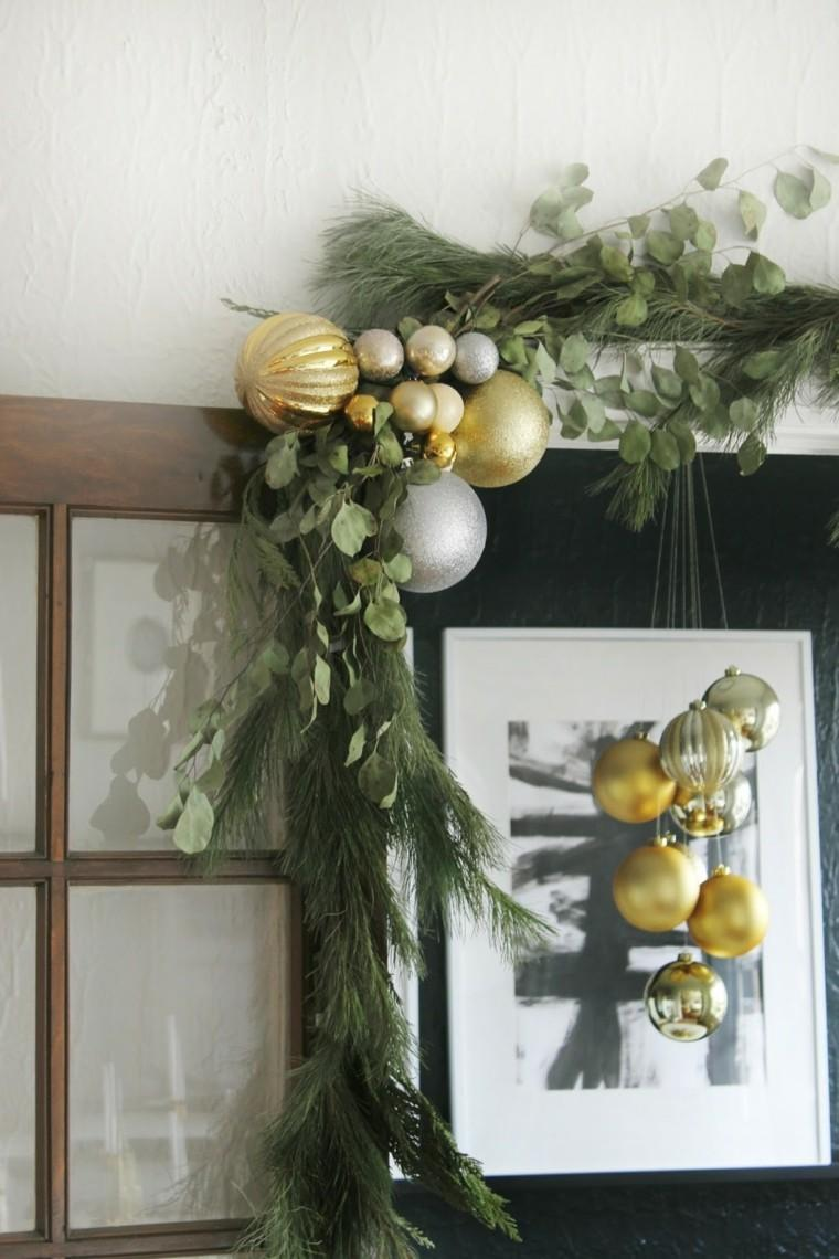 esferas doradas detalles vidrio bolas