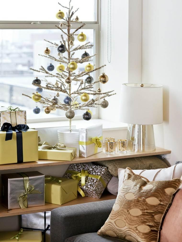 espacio imagenes navideñas macetas blanco esferas