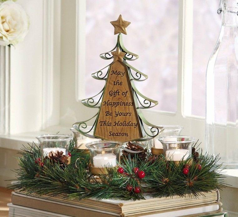 espacio imagenes navideñas macetas dorado ventana