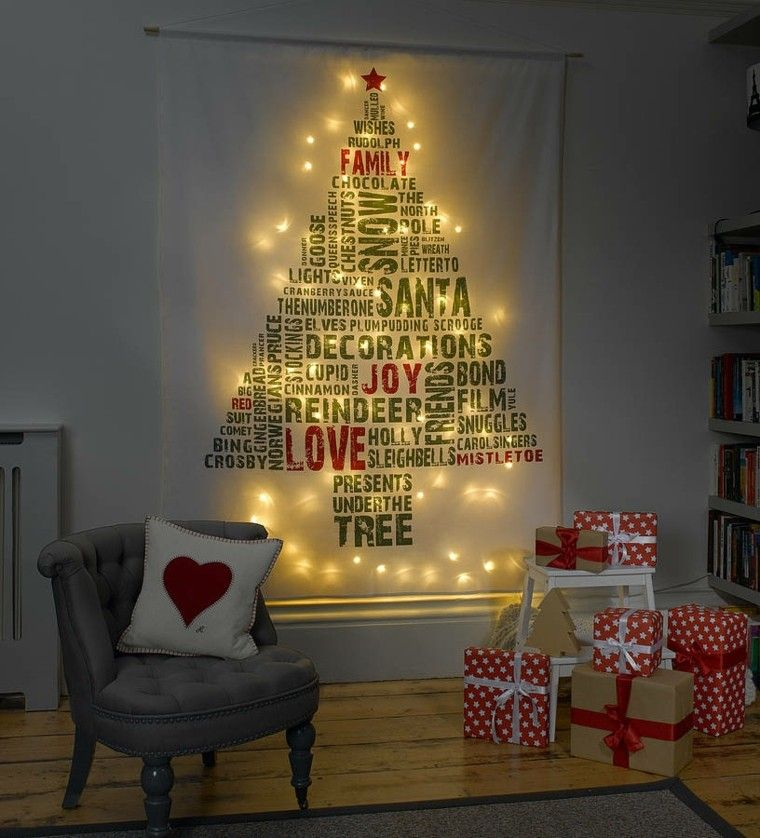 espacio imagenes navideñas mujer luces sillon