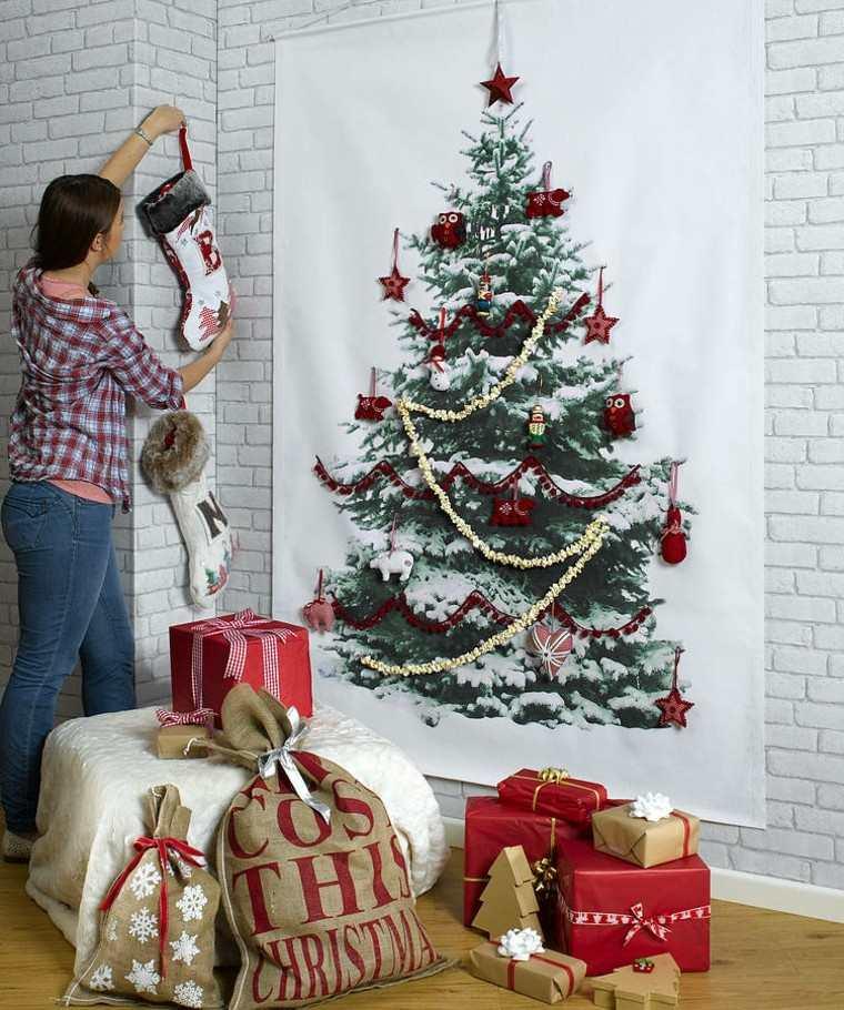 espacio imagenes navideñas mujer decorado