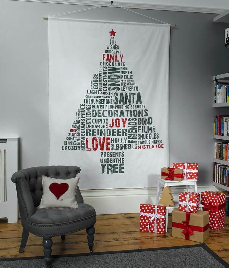 espacio imagenes navideñas telas gris