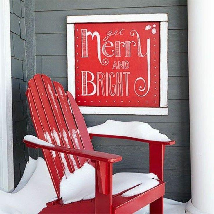esquina porche silla cartel navidad