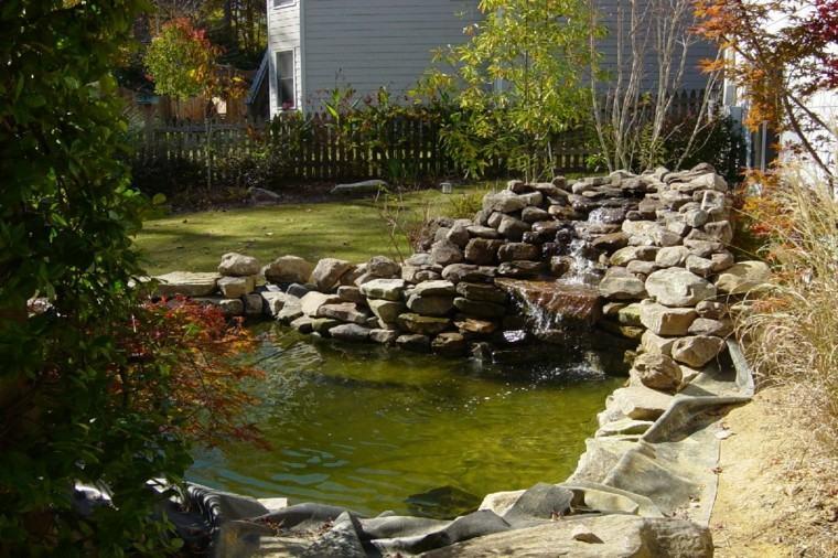 estanques jardines modernos cataratas agua