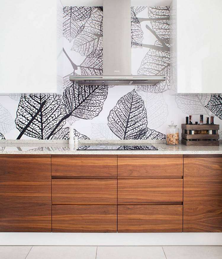 estantes figuras negro diseño madera