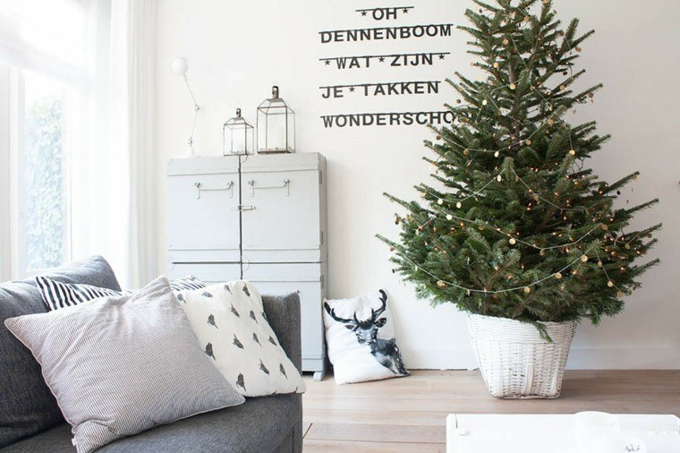 estilo cojines grises rayas sofa
