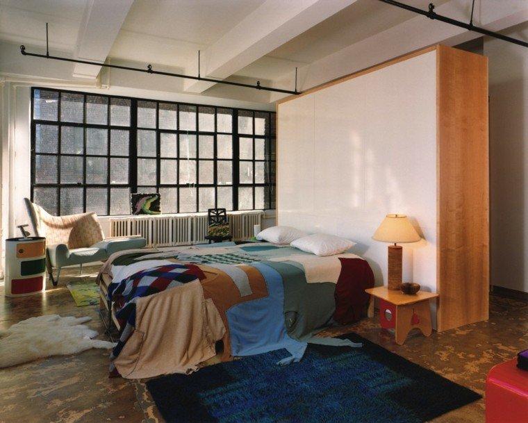 estilo dormitorio masculino elegante moderno alfombra azul ideas