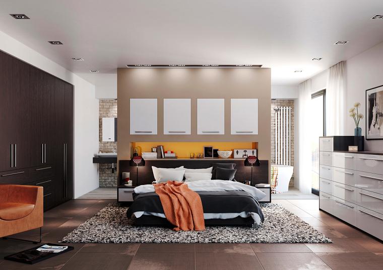 estilo dormitorio masculino elegante moderno amplio soleado ideas