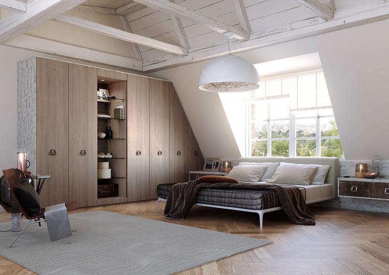 estilo dormitorio masculino elegante moderno armario madera ideas