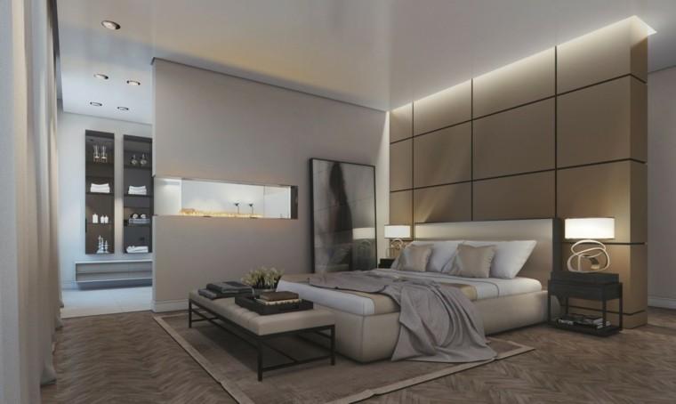 estilo dormitorio masculino elegante moderno chimenea preciosa ideas