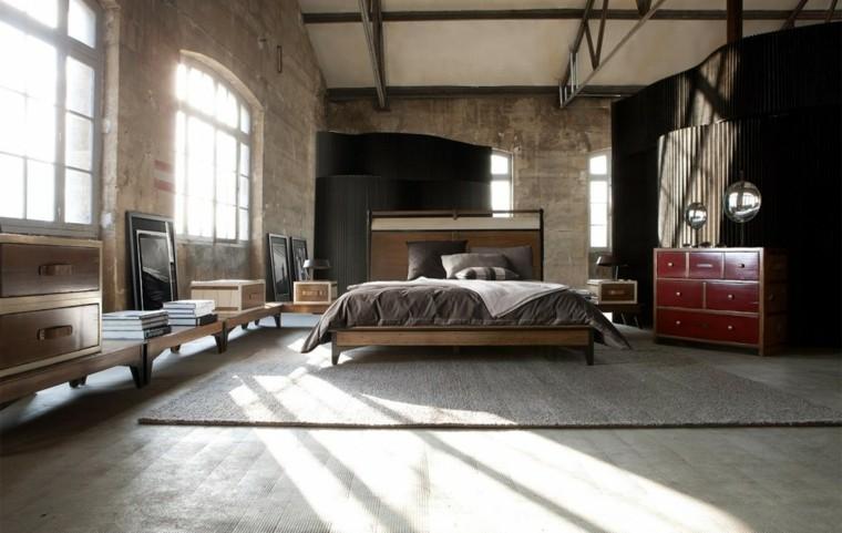 estilo dormitorio masculino elegante moderno mueble rojo ideas