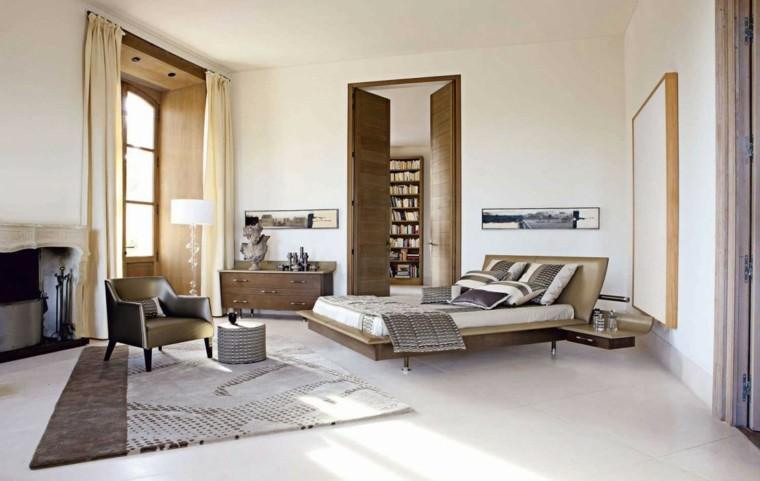 estilo dormitorio masculino elegante moderno techo alto ideas