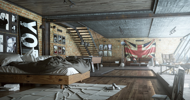 estilo sexy dormitorio masculino moderno cama madera ideas