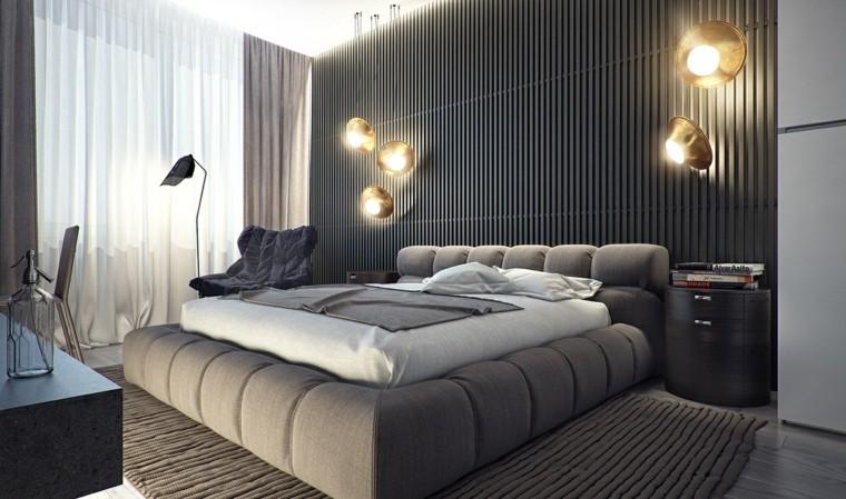 estilo dormitorio masculino moderno cama preciosa ideas