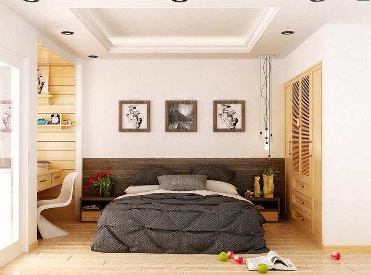 estilo dormitorio masculino moderno cuadros ideas