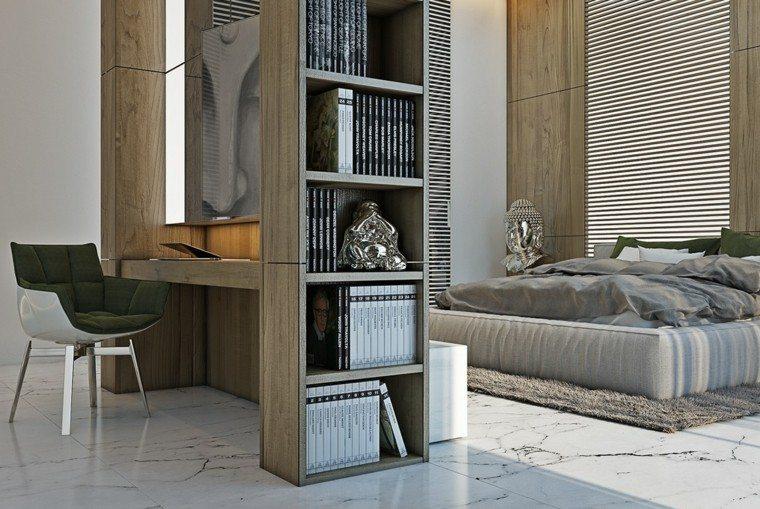 estilo sexy dormitorio masculino moderno estanterias cama ideas