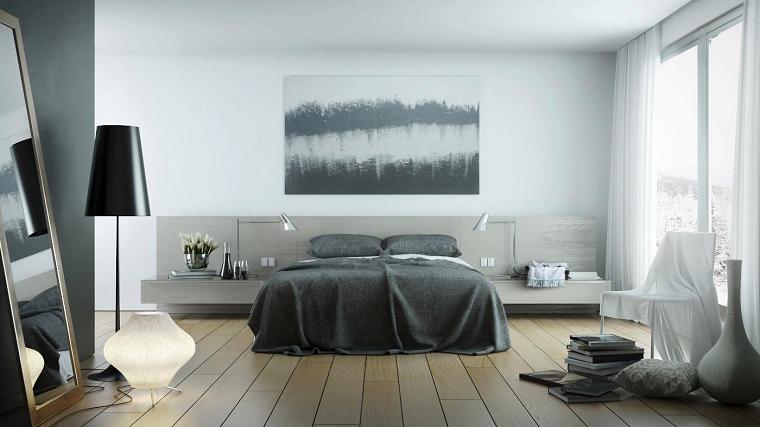 estilo sexy dormitorio masculino moderno lampara negra ideas
