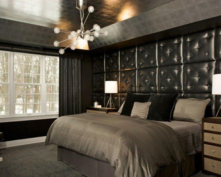 estilo sexy dormitorio masculino moderno pared cuero ideas