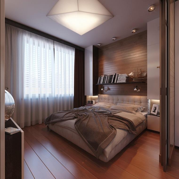 estilo sexy dormitorio masculino moderno pared madera ideas